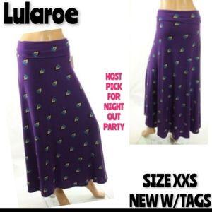 Lularoe Maxi Skirt Yoga Waist Size XXS NWT